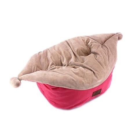 Wuwenw Joker Hat Design Cat Bed Cama para Perros 100% Lona De Algodón Exterior para