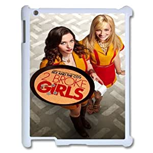 Custom iPad2,3,4 Case, Zyoux DIY High Qualtiy iPad2,3,4 Shell Case - 2 broke girls