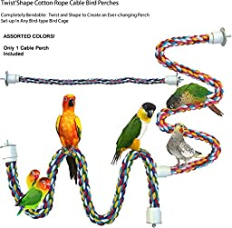 Twist'N'Shape Cotton Rope Cable Bird Perches (Small)