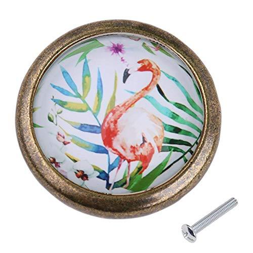 - Vintage Knob Wardrobe Cabinet Cupboard Door Handle Drawer Pull Flamingo#1