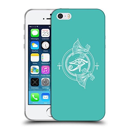 GoGoMobile Coque de Protection TPU Silicone Case pour // Q09920634 Religion 32 Turquoise // Apple iPhone 5 5S 5G SE