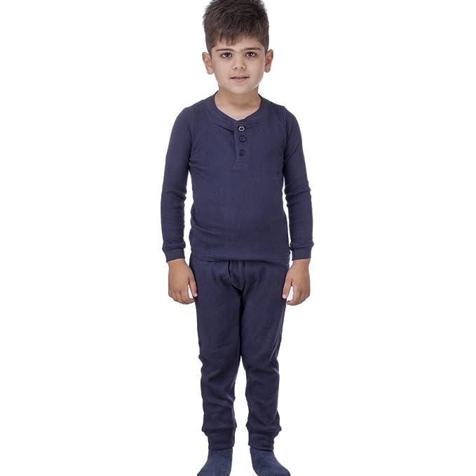 94dbb6040b76 Amazon.com  Arctic Pole Boys Henley Thermal Underwear Set 7 Navy ...