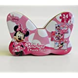 Minnie Bowtique Collector Tin with 3 Puzzles