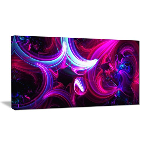 Abstract purple and pink wall art - new age wall art