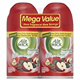 Air Wick Freshmatic Automatic Spray Air Freshener, Apple Cinnamon Medley Scent, Twin Refills, 6.17 Ounce (Pack of 12)