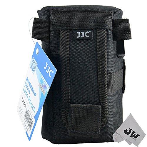 JJC DLP-3 Lens Pouch DLP-3 Heavy-Duty, Water-Resistant Deluxe Lens Pouch, Black (DLP-3)
