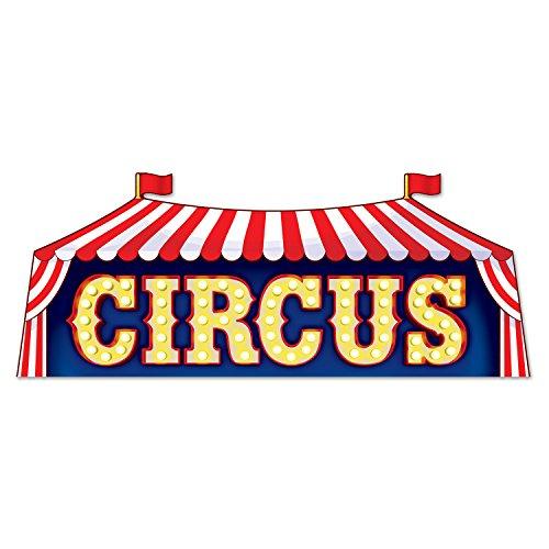 Circus Decor (Beistle Circus Sign, Multicolored)
