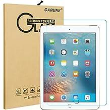 "iPad 9.7"" (2017) / iPad Pro 9.7 / iPad Air 2 / iPad Air Screen Protector GARUNK Tempered Glass Screen Protector [Crystal Clear] [Scratch Resist] [Bubble Free Install] [Apple Pencil Compatible]"