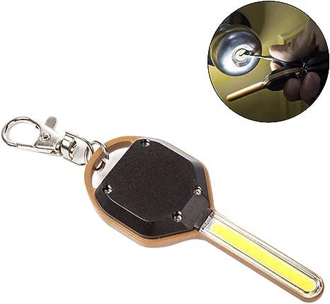 OCSM Praktischer Schlüsselanhänger mit 5 Schlüsselringen LED Lampe