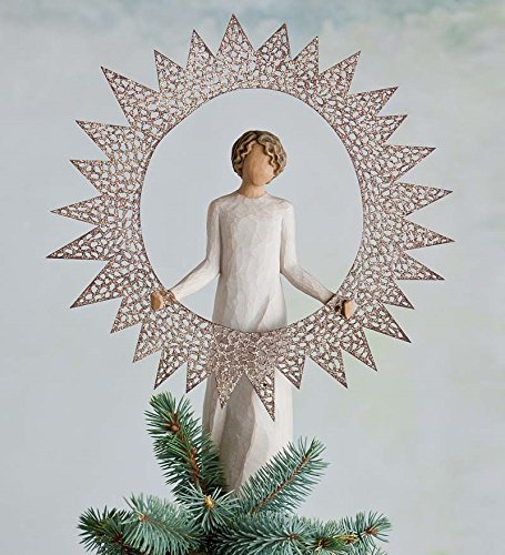 - Willow Tree 12-Inch Resin and Metal Starlight Tree Topper