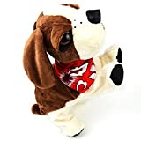 Global-store Interactive Plush Electronic Toy Dog, Clap Sound and Touch Control Pet Puppy with 8 Movements Bark Walk for Kids and the Aged