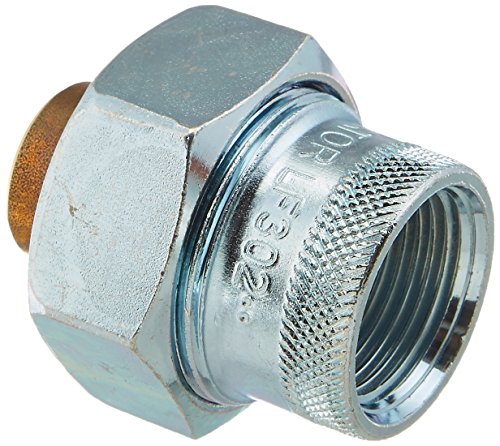 Rheem AP13045 Dielectric Union with 3/4-Inch Sweat and 3/4-Inch FPT, Brass/Zinc -