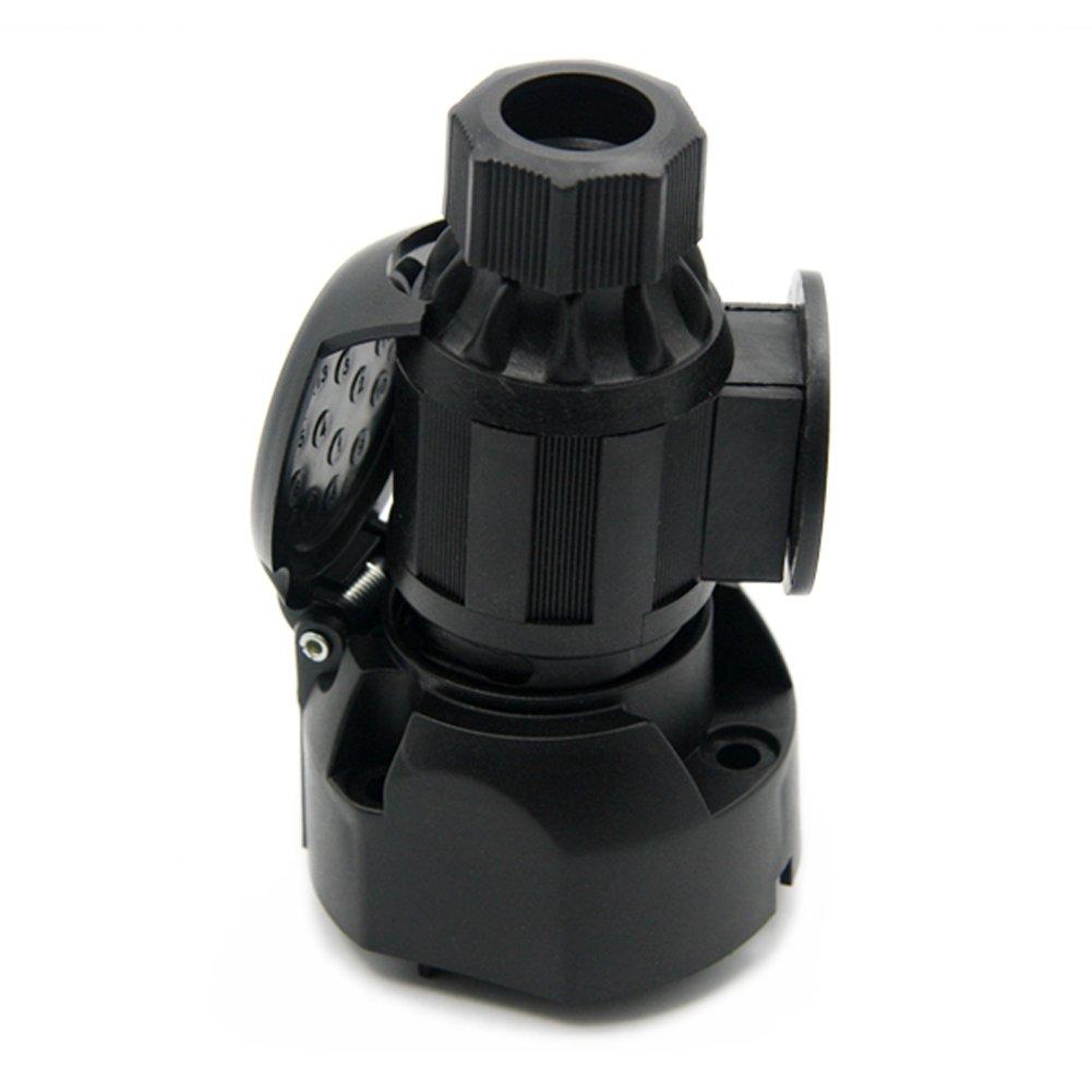 7 Pin Blade to 6 PIN Round Trailer Adapter Trailer Light Plug Connector 12v Towbar Towing Tirol