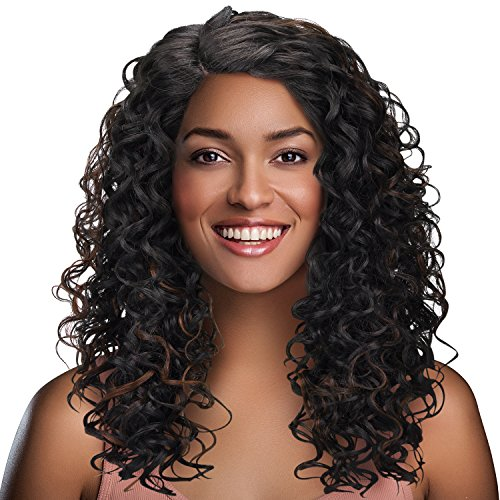 Long Afro Kinky Curly Lace Front Wigs,L Part Heat Resistance Synthetic Brazilian Hair Wig for African American Black Women 20