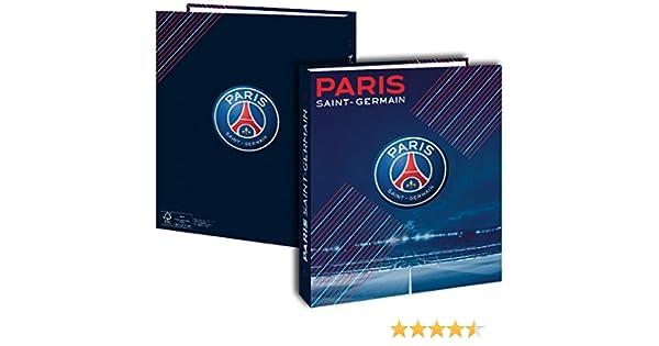 Archivador tamaño A4, diseño del equipo de fútbol PARIS SAINT GERMAIN- Estuche escolar, diseño 2016, colección oficial París SAINT GERMAIN: Amazon.es: Oficina y papelería