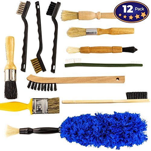 - Pro-grade Auto Detailing Brush Kit 12 Pack. Ultra Value Set For Interior and Exterior Car Care. Clean Every Crevice with Gentle, Scratch-Free Natural Detailing Brushes and Heavy-Duty Wire Scrubbers