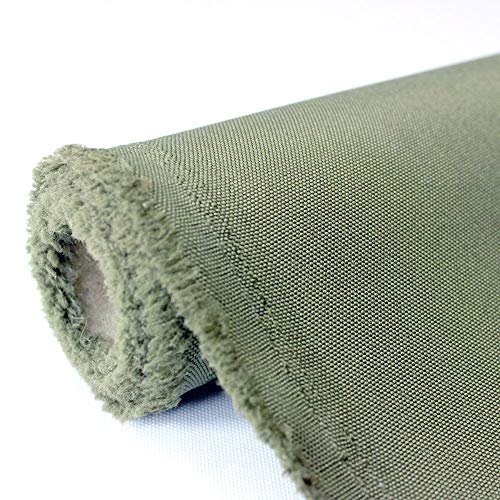 Waterproof Canvas Fabric Outdoor 600 Denier Indoor/Outdoor Fabric by The Yard PU Backing UV Protector Waterproof Canvas Awning Fabric Foliage (1 Yard, Foilage)