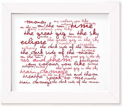 Pink Floyd Poster Print - The Dark Side od the Moon - letra ...