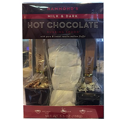 Hot Chocolate Dunking Spoons w Marshmallow Gift Box 5.5oz by Hammonds