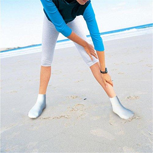 Deslizamiento en Buceo descalzos Byste natación Elástico Yoga Multifuncional acuáticos playa Buceo la Antideslizante Deportes Surf para Hombres de Blanco Mujeres Silicona Ejercicio Flotabilidad nadar Piscina Calcetines aqacwpPE