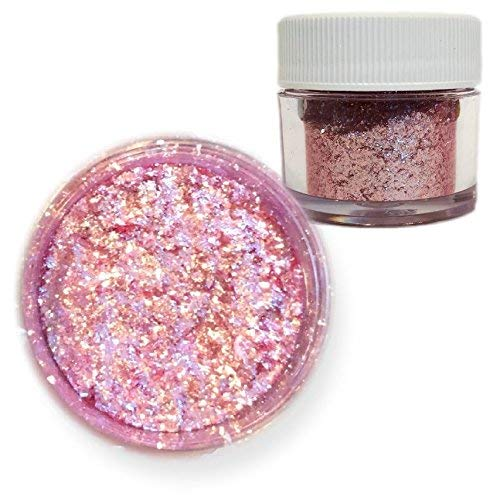 Pink Rose Edible Tinker Dust Edible Glitter 5g Jar | Bakell Food Grade Gourmet Dessert, Foods, Drink Garnish | Pearlized Shimmer Sparkle Sprinkle