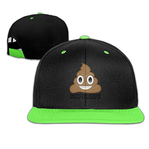 Oopp Jfhg Hip Hop Baseball Caps Poop Happens Emoji Trucker Flat Hat For Boy Girls