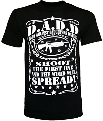 Dads Against Daughters Dating Men's T-Shirt - (Black) - XL