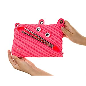 ZIPIT Grillz 3-Ring Pencil Case, Pink