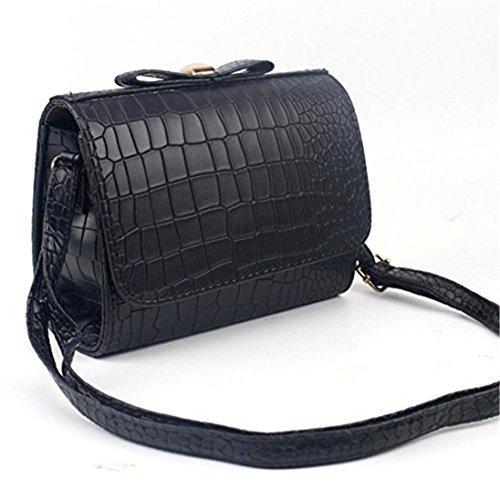 Croco Fashion Women size Bag Handbag Crossbody Small Pink Tote dragonaur Large Purse Shoulder Black Ladies Bow EHwxq