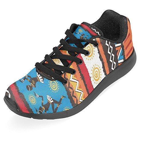 Interestprint Kvinner Jogging Kjører Sneaker Lettvekts Gå Gang Uformell Komfort Joggesko Etniske Tribal Dans Afrikanere Og Aboriginere Multi 1