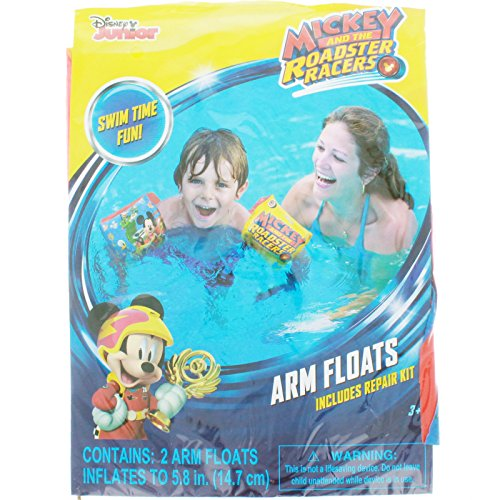 Pool Racer - [3-Pack] Disney Mickey and the Roadster Racers Swimming Pool Inflatable Arm Floats Floaties