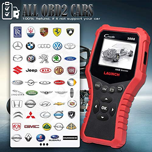 LAUNCH CRP3008 Creader 3008 Professional OBD2 Scanner Enhanced OBDII EOBD Code Reader, One-Key Check Engine Light I/M Readiness O2 Sensor Systems Battery Test Diagnostic Scan Tool-Free Update by LAUNCH (Image #2)