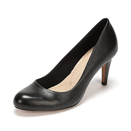 4fba2f4d4fc5 Clarks Women s s Carlita Cove Closed-Toe Pumps Black  Amazon.co.uk ...