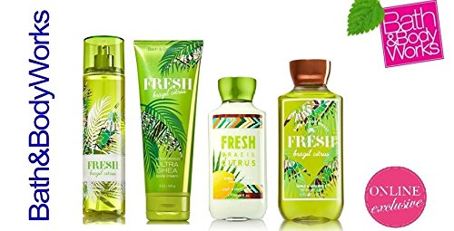 Bath & Body Works Fresh Brazil Citrus Deluxe Gift Set Lotion ~ Cream ~ Fragrance Mist ~ Shower Gel Lot of 4 by Bath & Body Works