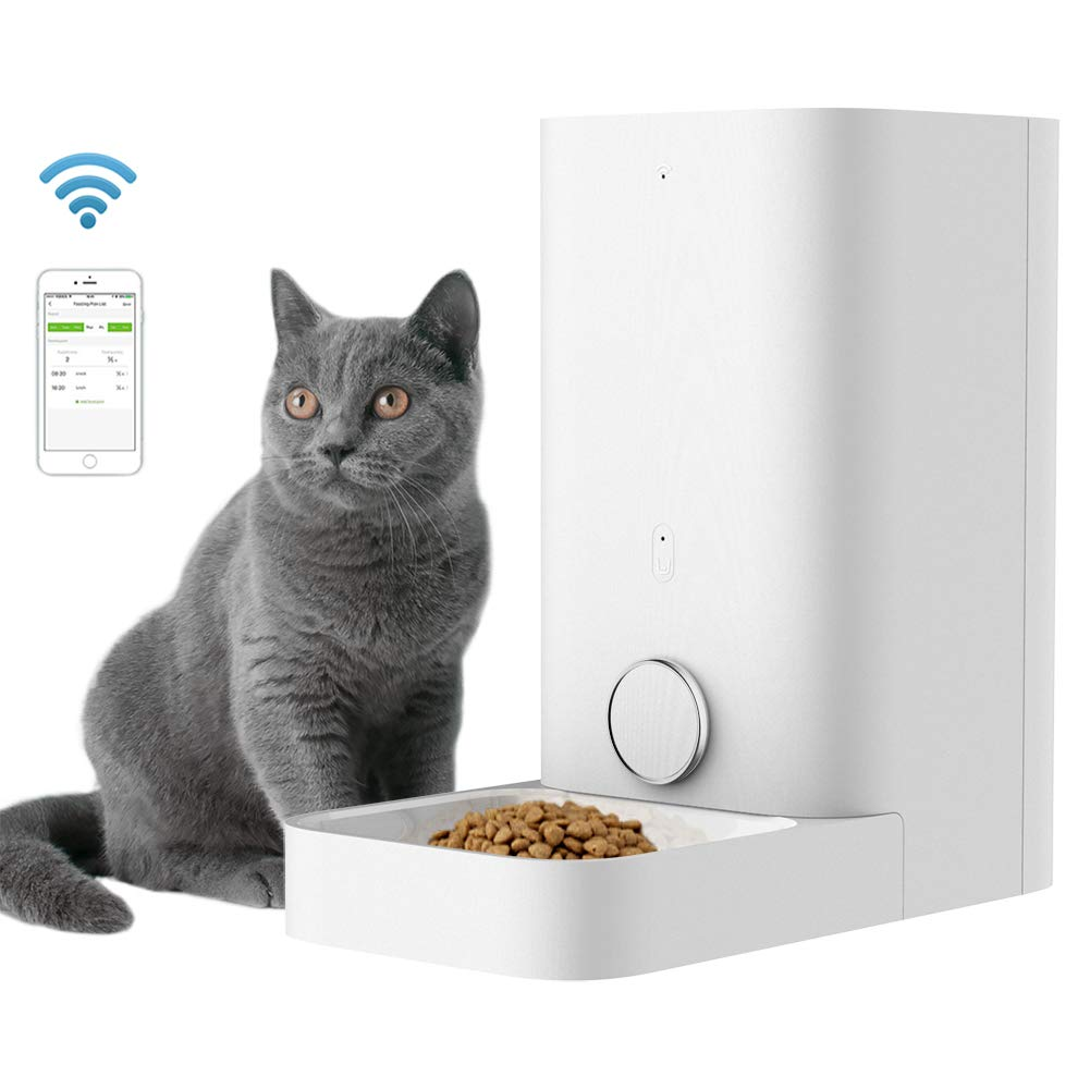 "PETKIT Automatic Cat Feeder Food Dispenser, Wi-Fi Enabled App for Android, iOS, Timer Programmable, Portion Control, Double ""Fresh Lock"" System, Anti-Sticking, 2.8L"