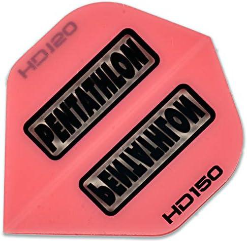 US Darts 3セット (9飛行) Penthalon エクストラストロング HD150 ピンク スタンダード ダーツ フライト