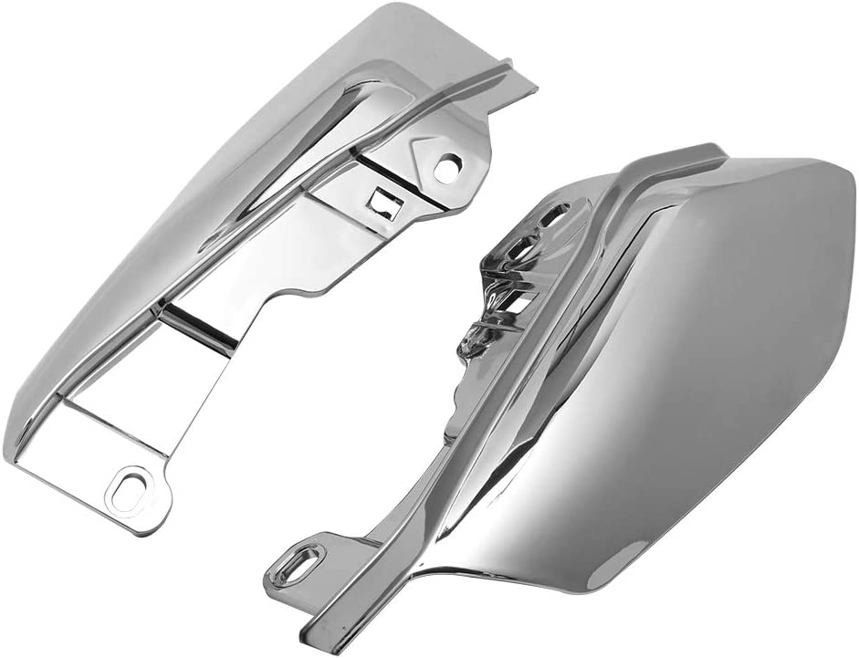 H-Ruo Chrome Mid-Frame Air Deflector Heat Shield for Harley Touring Electra Glide Street Glide Road Glide 2017-2019