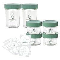 Las cucharas sabias se fabrican en frascos de vidrio a granel, (juego de 2 frascos de vidrio de 8 oz y 4 4 oz)