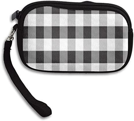 White and Black Fleece Coin Purse Change Pocket