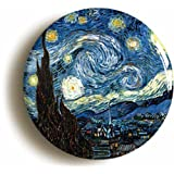 Starry Night By Vincent Van Gogh Button Pin (Size 1inch Diameter)
