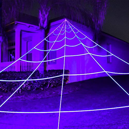 Giant Outdoor Yard Spider Web - Perfect Decor Kit For Cute Or Scary Halloween Decorations & (Clearance Halloween Decorations)
