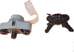 USA Premium Store Hurricane Shutter Lock, Hi Velocity Lock Kit, Accordion Shutter Hardware, White