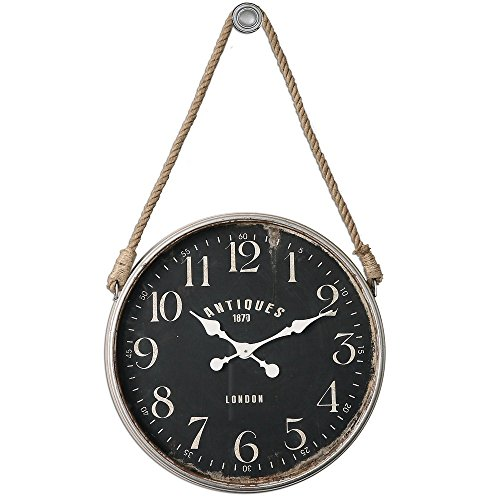 "picture of Uttermost Bartram Antiqued Ivory 23 1/4"" Round Wall Clock"