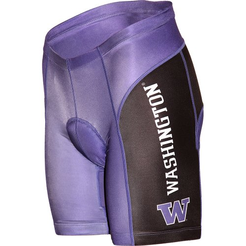NCAA University of Washington Huskies Cycling Shorts, Purple