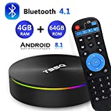 Android 8.1 TV Box, [2019 Updated Edition] Smart Android TV Box Media Player Quad-Core Amlogic S905X2 64bit 4GB RAM 64GB ROM Support 5.8G/ Band WiFi/H.265/ BT4.1/ USB 3.0/ 1000M LAN/ 3D/4K Ultra HD
