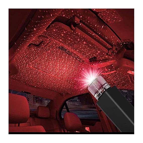 CarEmpire Auto Roof Star Projector Lights, USB Portable Adjustable Flexible Interior Car Night Lamp Decorations with