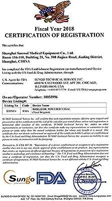Sonmol Nasenbew/ässerung Elektrische Spray 3-Modus Sinus sp/ülen FDA Zertifiziert Nasal-Wash f/ür j/üngere Kinder und Erwachsene