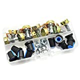 HJ Garden 10pcs 3 Pin Rotary Linear Single Potentionmeter Assortment Kit WH148 B Type 15mm Shaft With Nut 10 Kinds 1K-1M Ohm