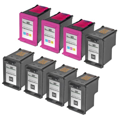 Speedy Inks - 8PK Remanufactured replacement for HP 60 CC...