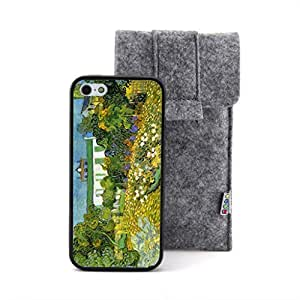 CaseCityLiu - Daubigny Garden Vincent Willem van Gogh Oil Painting Design Black Bumper Plastic+TPU Case Cover for Apple iPhone 5 5s 5th 5g 5Generation Come With FREE Non Woven Packing Bag